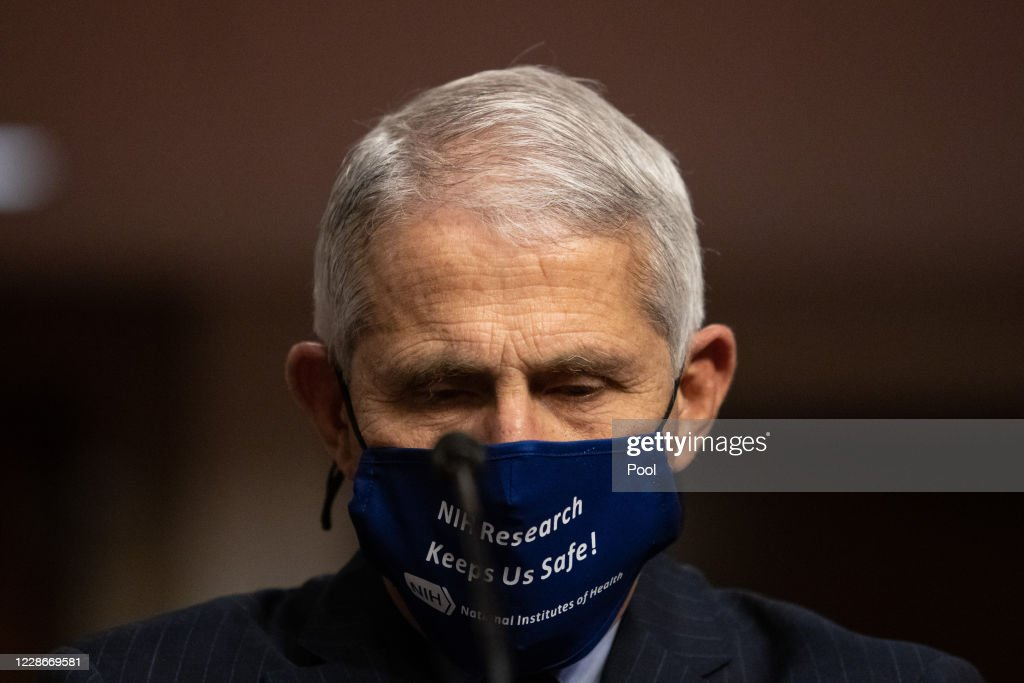 Dr. Anthony Fauci Testifies Before Senate On Federal Response To Pandemic : News Photo