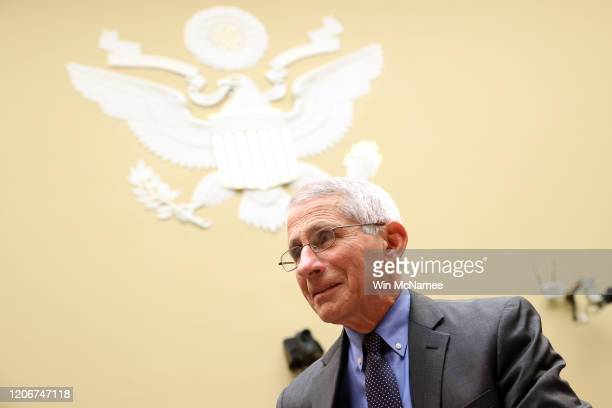 Anthony Fauci, director of the NIH National Institute of Allergy and Infectious Diseases appears during a House Oversight and Reform Committee...