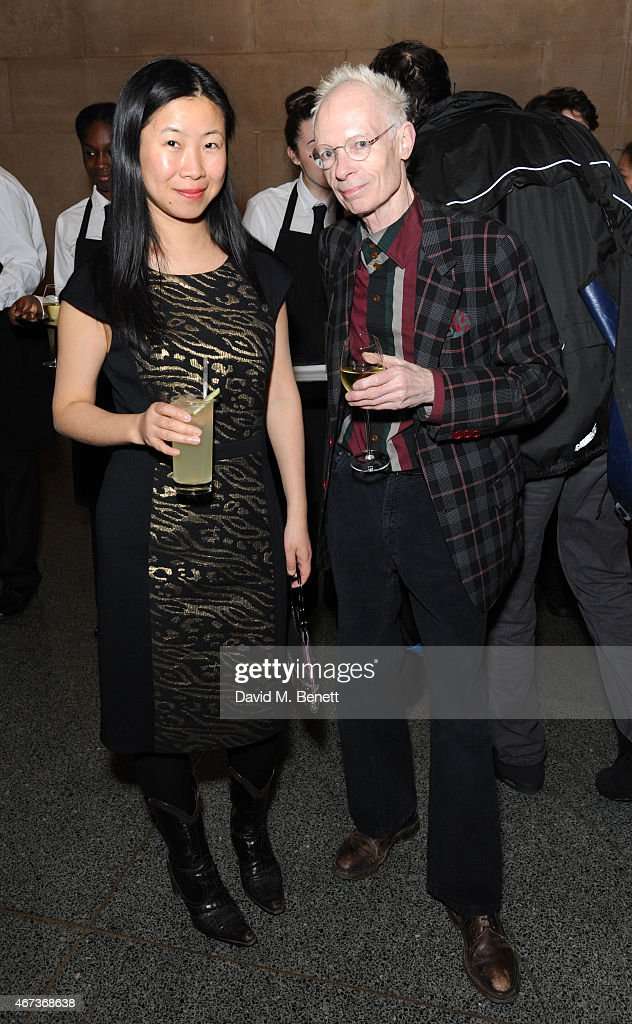 Anthony Fawcett (right) and Guest attends a private view of 'Nick Waplington/Alexander McQueen: Working Progress' at the Tate Britain on March 23, 2015 in London, England.