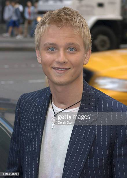 Anthony Fedorov of 'American Idol' Season 4 during Anthony Fedorov and Tracy Morgan Arrive at 'Fox Friends' Studio May 17 2005 at 'Fox Friends'...