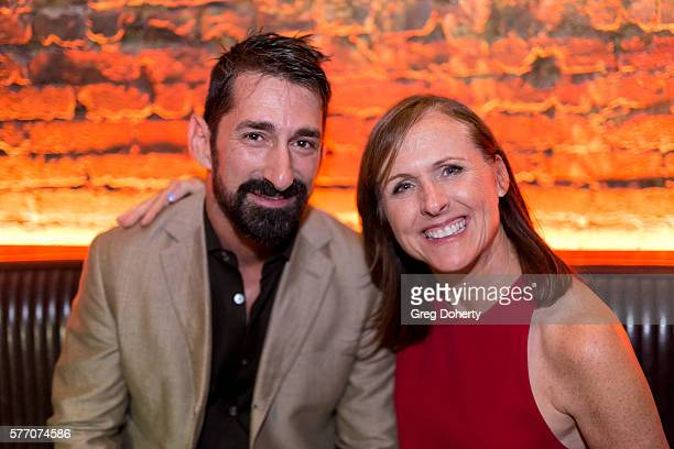 """Anthony Festa and Actress Molly Shannon pose for a picture at the 2016 Outfest Los Angeles Closing Night Gala Of """"Other People"""" After Party at The..."""