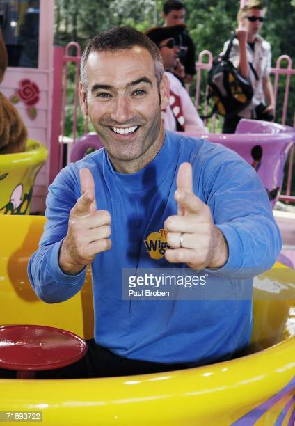 Anthony Field of The Wiggles performs on stage as The Wiggles celebrate their 15th birthday at Wiggles World on September 15 2006 on the Gold Coast...