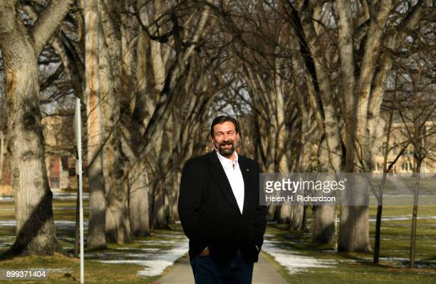 Anthony Frank CSU System Chancellor and CSU president stands for a portrait near the school's iconic American elm trees that encircle the Oval on the...