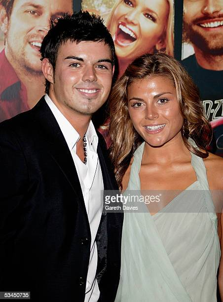 Anthony from Big Brother and girlfriend Zoe Hardman arrives at the UK Premiere of 'The Dukes Of Hazzard' at Vue West End on August 22 2005 in London...