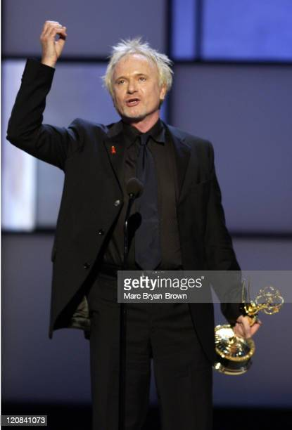 Anthony Geary accepts the award for Outstanding Lead Actor in a Drama Series for his role in 'General Hospital'