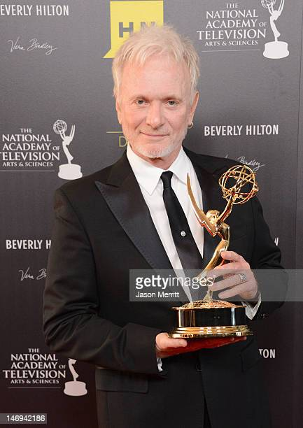 Anthony Geary poses in the press room at The 39th Annual Daytime Emmy Awards broadcasted on HLN held at The Beverly Hilton Hotel on June 23 2012 in...