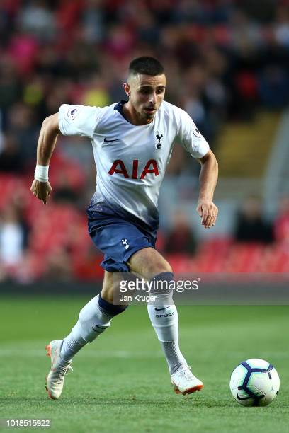 Anthony Georgiou of Tottenham Hotspur during the Premier League 2 match between Liverpool at Tottenham Hotspur at Anfield on August 17 2018 in...