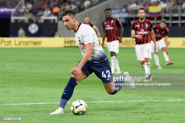 Anthony Georgiou of Tottenham Hotspur handles the ball in the first half against AC Milan during the International Champions Cup 2018 at US Bank...