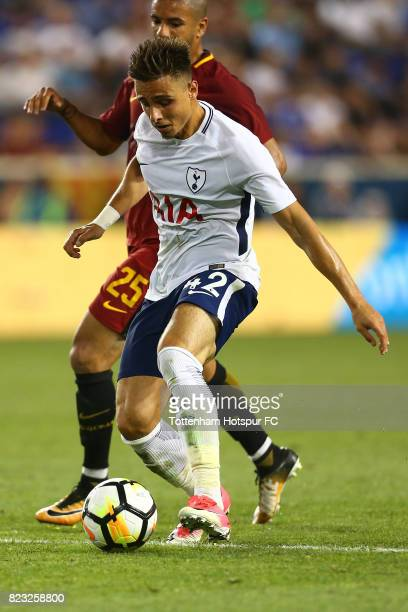 Anthony Georgiou of Tottenham Hotspur in action against Roma during the International Champions Cup 2017 at Red Bull Arena on July 25, 2017 in...