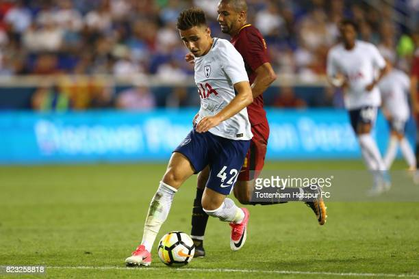 Anthony Georgiou of Tottenham Hotspur in action against Roma during the International Champions Cup 2017 at Red Bull Arena on July 25 2017 in...