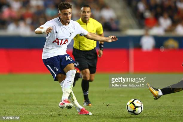 Anthony Georgiou of Tottenham Hotspur in action against the Roma during the International Champions Cup 2017 at Red Bull Arena on July 25, 2017 in...