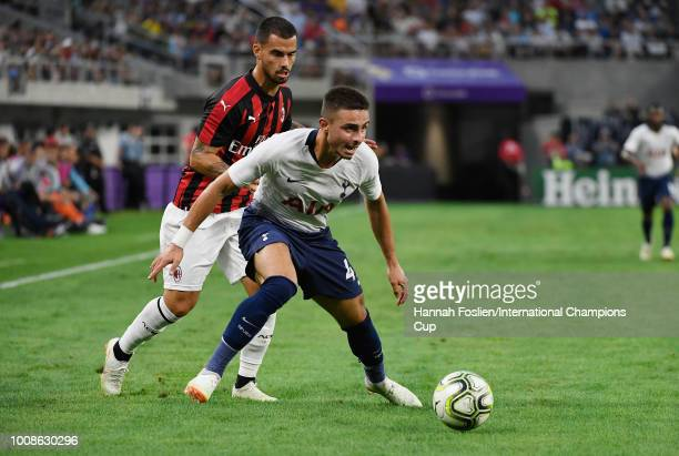 Anthony Georgiou of Tottenham Hotspur in action in the first half against AC Milan during the International Champions Cup 2018 at US Bank Stadium on...