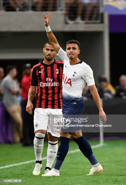 Anthony Georgiou of Tottenham Hotspur reacts in the first half against AC Milan during the International Champions Cup 2018 at US Bank Stadium on...