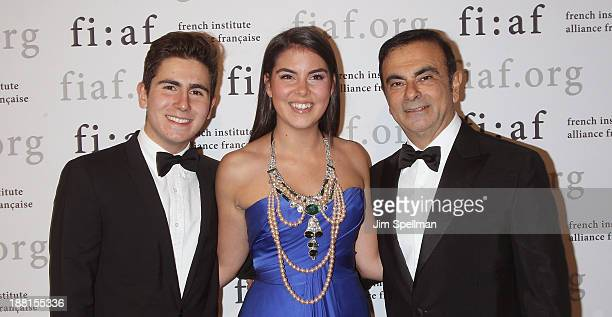 Anthony Ghosn Caroline Ghosn and businessman Carlos Ghosn attend the 2013 Trophee Des Arts gala on November 15 2013 in New York City