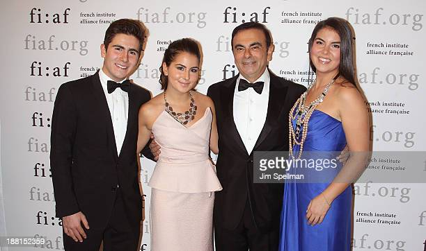 Anthony Ghosn Maya Ghosn businessman Carlos Ghosn and Caroline Ghosn attend the 2013 Trophee Des Arts gala on November 15 2013 in New York City