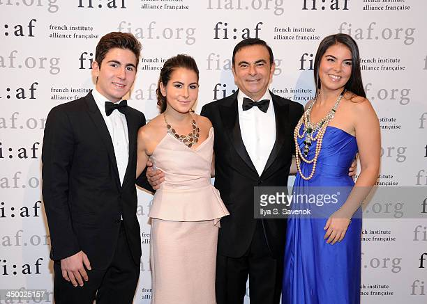 Anthony Ghosn Maya Ghosn businessman Carlos Ghosn and Caroline Ghosn attend the 2013 Trophee des Arts gala at 583 Park Avenue on November 15 2013 in...