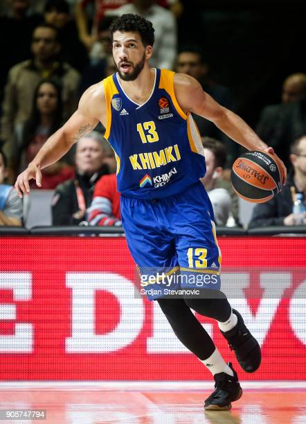 Anthony Gill of Khimki in action during the 2017/2018 Turkish Airlines EuroLeague Regular Season Round 18 game between Crvena Zvezda mts Belgrade and...