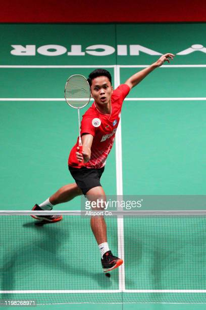 Anthony Ginting of Indonesia in action during Day 2 of the Malaysia Master at the Axiata Arena on January 08, 2020 in Kuala Lumpur, Malaysia.