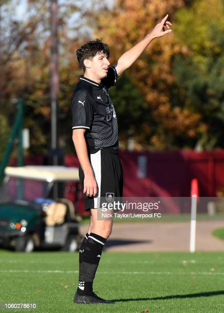 Anthony Glennon of Burnley during the Premier League Cup game at The Kirkby Academy on November 11 2018 in Kirkby England