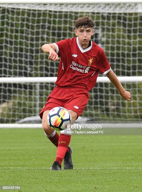 Anthony Glennon of Liverpool in action during the Derby County v Liverpool U18 Premier League game at the Derby County Academy on August 11 2017 in...