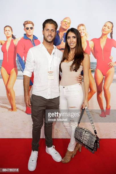 Anthony Glick and partner attend the Australian premiere of 'Baywatch' at Hoyts EQ on May 18 2017 in Sydney Australia