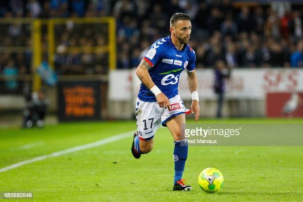 Anthony Goncalves of Strasbourg during the Ligue 2 match between RC Strasbourg Alsace and Bourg en Bresse on May 19 2017 in Strasbourg France