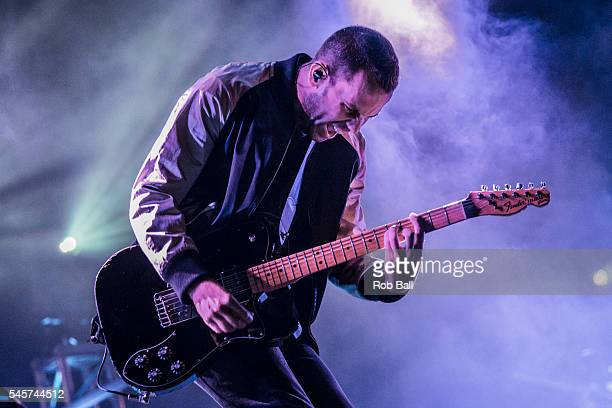 Anthony Gonzalez from M83 performs at NOS Alive on July 9 2016 in Lisboa CDP Portugal