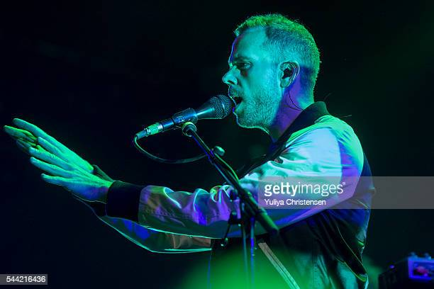 Anthony Gonzalez from M83 performs at Roskilde Festival on July 1 2016 in Roskilde Denmark