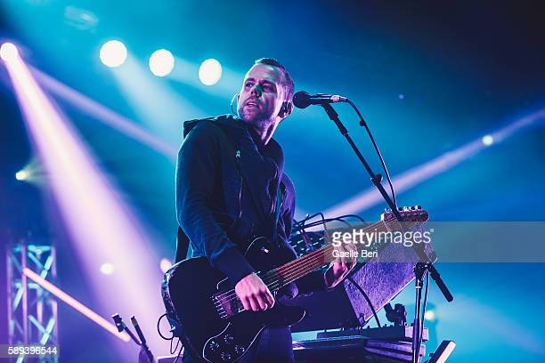 Anthony Gonzalez of M83 performs live at Flow Festival on August 13 2016 in Helsinki Finland