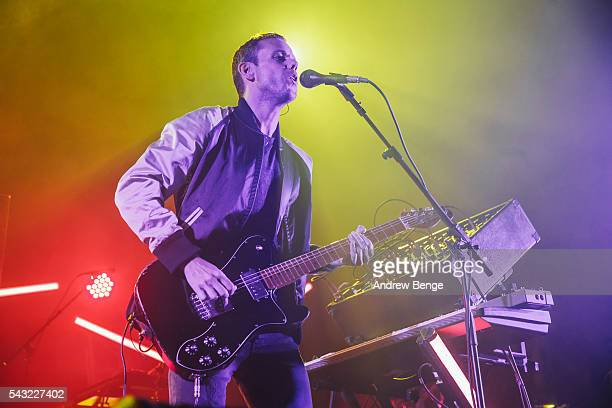 Anthony Gonzalez of M83 performs on stage at The O2 Ritz Manchester on June 26 2016 in Manchester England