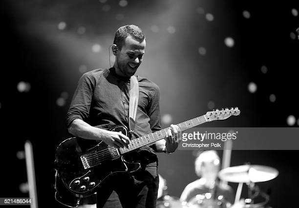 Anthony Gonzalez of M83 performs onstage on day 1 of the 2016 Coachella Valley Music Arts Festival Weekend 1 at the Empire Polo Club on April 15 2016...