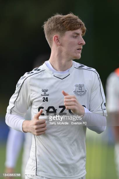 Anthony Gordon during the Everton Training Session at USM Finch Farm on September 16 2021 in Halewood, England.