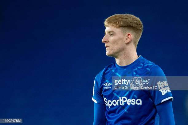 Anthony Gordon of Everton during the Leasing Trophy Second Round match between Everton U21 and Fleetwood Town at Goodison Park on November 26 2019 in...
