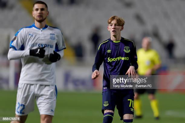 Anthony Gordon of Everton during the UEFA Europa League Group E match between Apollon Limassol and Everton at GSP Stadium on December 7 2017 in...