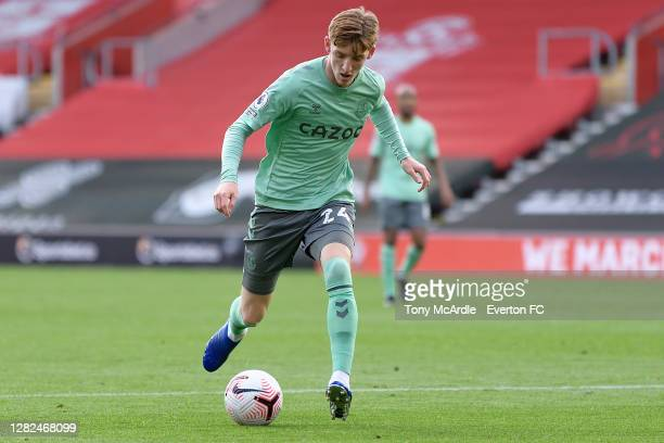 Anthony Gordon of Everton on the ball during the Premier League match between Southampton and Everton at St Mary's Stadium on October 25 2020 in...