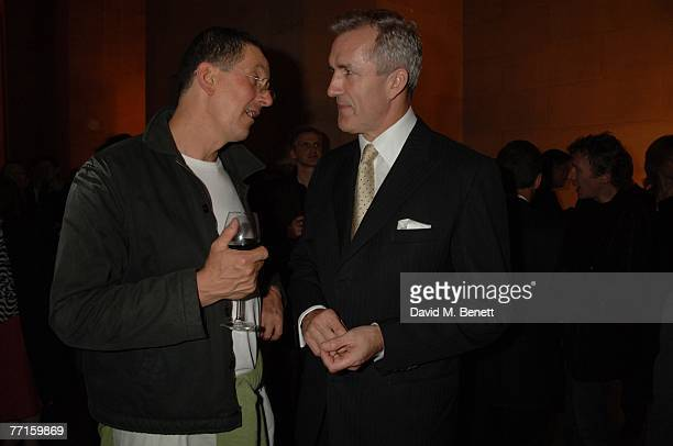 Anthony Gormley and guest attend the Turner Prize A Retrospective 19842006 at the Tate Britain on October 1 2007 in London England