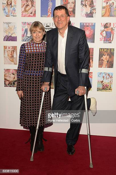 Anthony Gormley and wife attend the Vogue 100 Gala Dinner at Kensington Gardens on May 22 2016 in London England