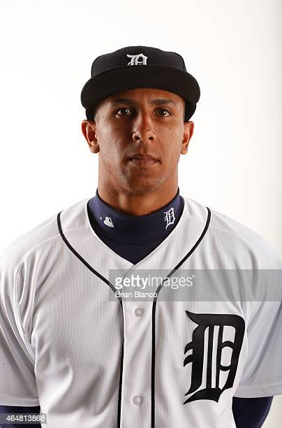 Anthony Gose of the Detroit Tigers poses for a photo during the Tigers' photo day on February 28 2015 at Joker Marchant Stadium in Lakeland Florida