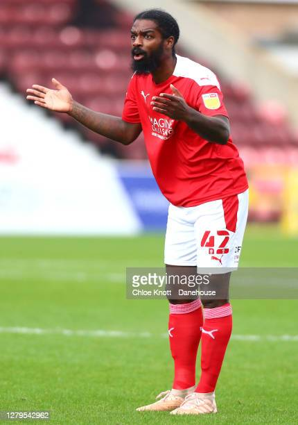Anthony Grant of Swindon Town reacts during the Sky Bet League One match between Swindon Town and AFC Wimbledon at County Ground on October 10, 2020...