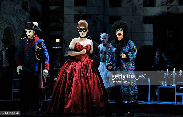 Anthony Gregory as Don Ottavio Ana Maria Labin as Donna Anna and Magdalena Molendowska as Donna Elvira with artists of the company in Wolfgang...