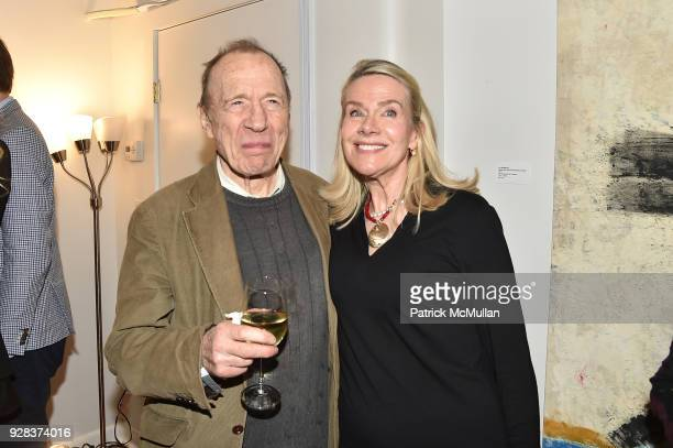 Anthony Haden Guest and Ati Sedgwick attend the Ati Sedgwick Private Preview at The VFGI Townhouse Gallery on March 6 2018 in New York City