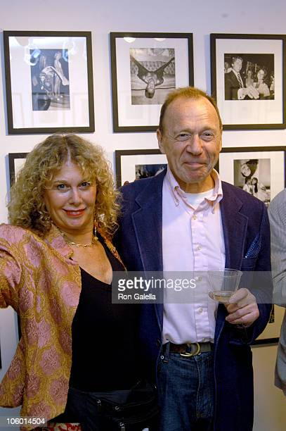Anthony Haden Guest and date during Party for Ron Galella's Disco Show Opening September 6 2006 at Kasmin Gallery in New York City New York United...