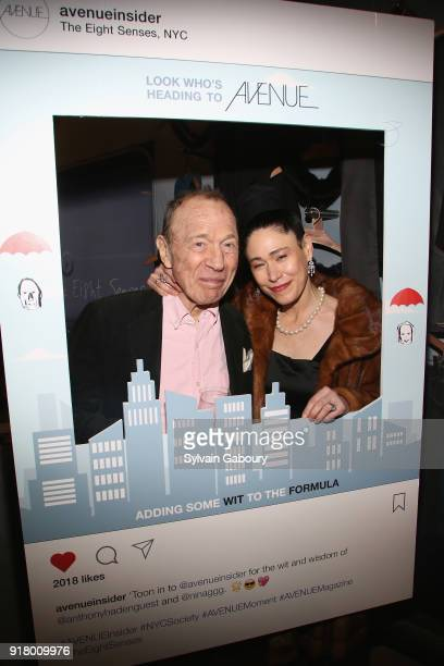 Anthony HadenGuest and Elyn Kuznetsova attend AVENUE Celebrate its two Newest Contributing Editors Nina Griscom and Anthony HadenGuest on February 13...
