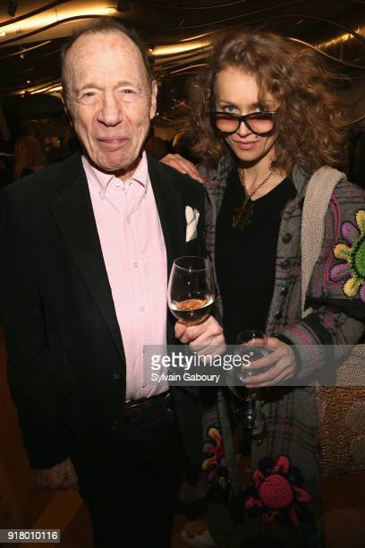 Anthony HadenGuest and Olek attend AVENUE Celebrate its two Newest Contributing Editors Nina Griscom and Anthony HadenGuest on February 13 2018 in...
