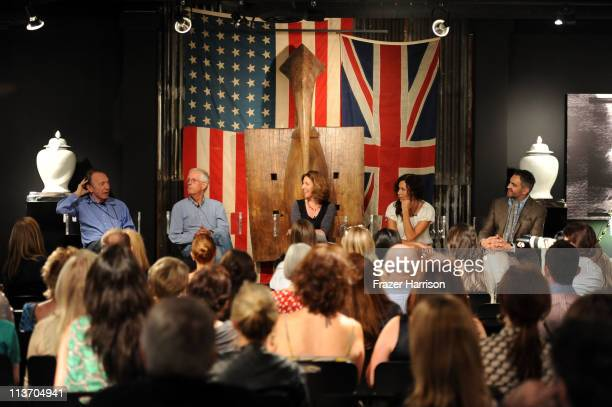 Anthony HadenGuest author Michael Apted Francis Anderton Minnie Driver actress Martyn LawrenceBullard attend 'A Salute to British Design' panel...