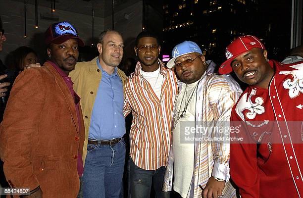 Anthony Hamilton, Barry Weiss, Usher, Jazze Pha and Alex Thomas