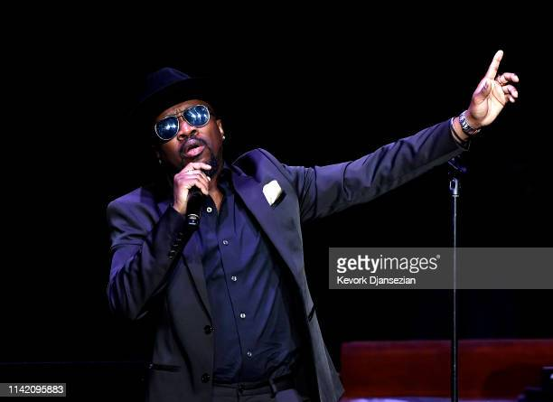 Anthony Hamilton performs onstage during Nipsey Hussle's Celebration of Life at STAPLES Center on April 11 2019 in Los Angeles California Nipsey...