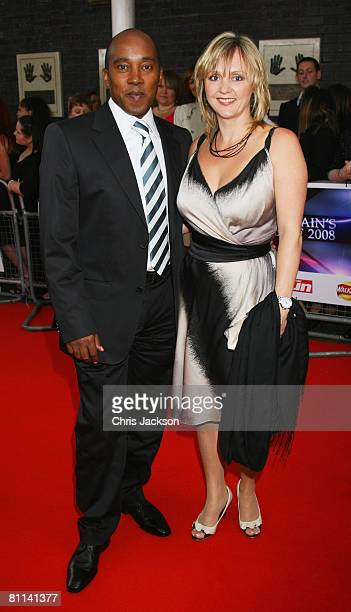Anthony Hamilton the father of Formula One driver Lewis Hamilton and guest arrive at the Britains Best 2008 awards at The London Studios on May 18...