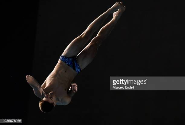 Anthony Harding of United Kingdom competes in the Mixed International Team Final during Day 11 of Buenos Aires Youth Olympic Games 2018 at Europe...