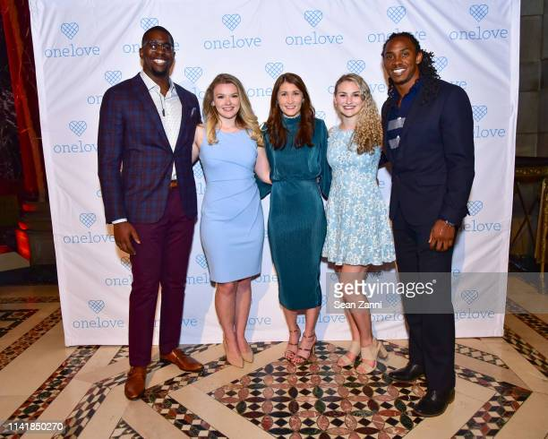 Anthony Harris Julia Hussey Julia Landauer Kelsey Kempner and Stephen Weatherly attend The One Love Foundation's One Night for One Love at Cipriani...